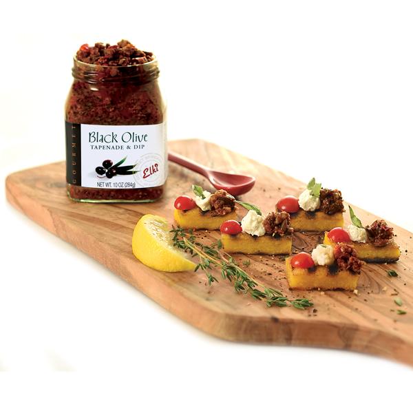 95E Elki Black Olive Tapenade with Polenta