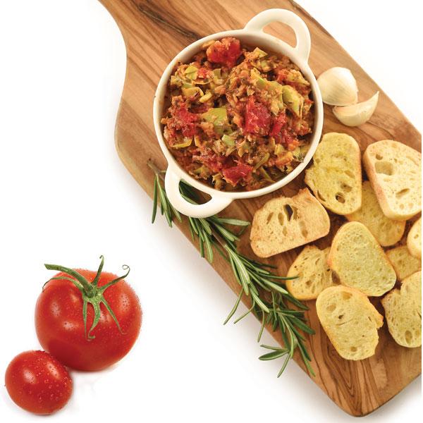 Elki 91E Artichoke Tomato Bruschetta