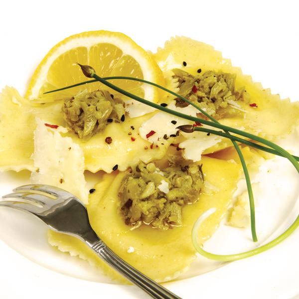 Ravioli with pesto